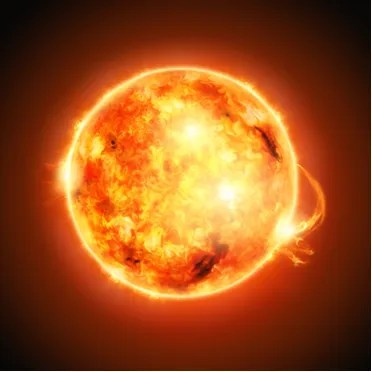 O plasma está a uma tempratura de aproximadamente 84 mil ºC em determinadas regiões da superfície do sol