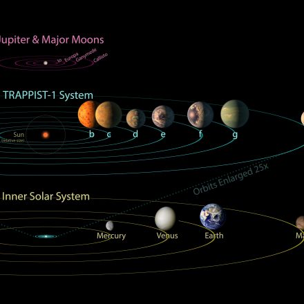 TRAPPIST-1 Comparison to Solar System and Jovian Moons