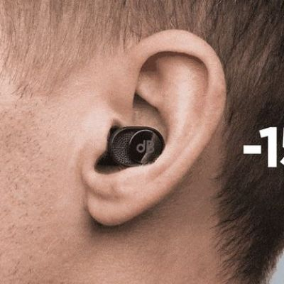 These fancy earbuds have a built-in slider for letting in more or less noise