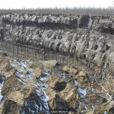 In Siberia there is a huge crater and it is getting bigger