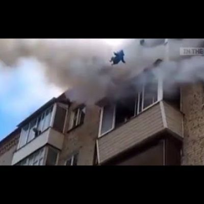 Russian Dad Saves Kids From Fire by Throwing Them Out Of 5th Floor Window