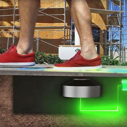 Las Vegas streetlights are powered by your footsteps