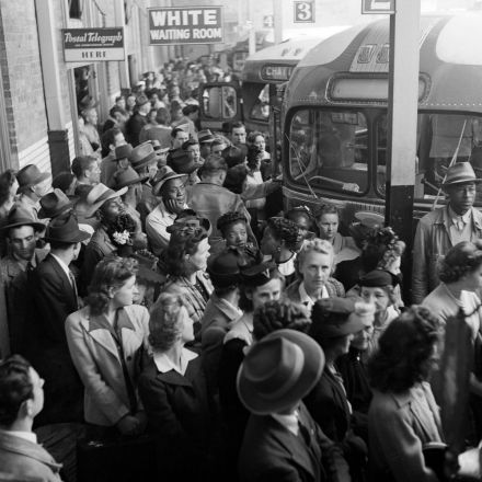 An ambitious young photographer captured the chaos and beauty of Greyhound buses in 1943