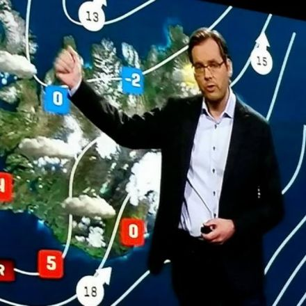 East Icelanders tell TV weatherman to stop standing in front of their region