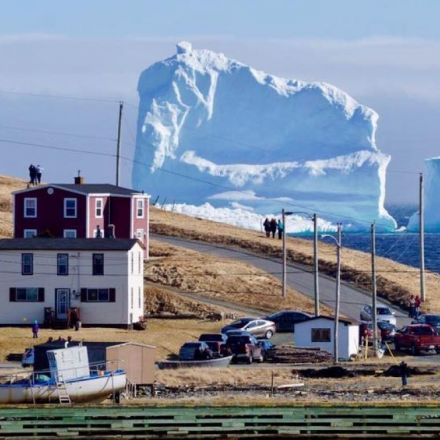 Highway 'Swarming with People' Snapping Pics of Massive Newfoundland Iceberg
