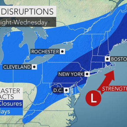Nor'easter to unleash heavy snow from DC to Boston as Winter strikes back