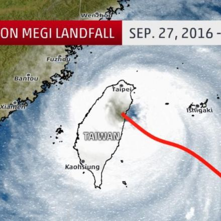 Typhoon Megi Landfalls in Taiwan; Over 120 MPH Winds, 30+ Inches of Rain Measured