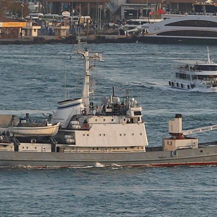 Russian spy ship collides with freighter, sinks in Black Sea