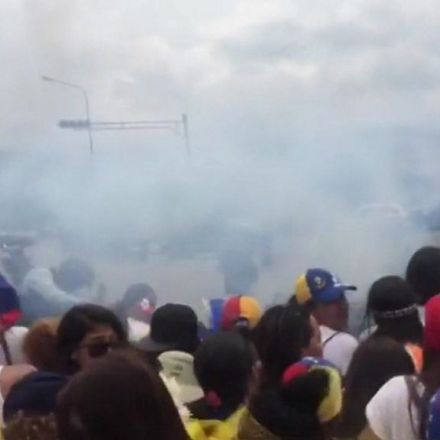 Venezuela women's march: Tear gas used on protesters