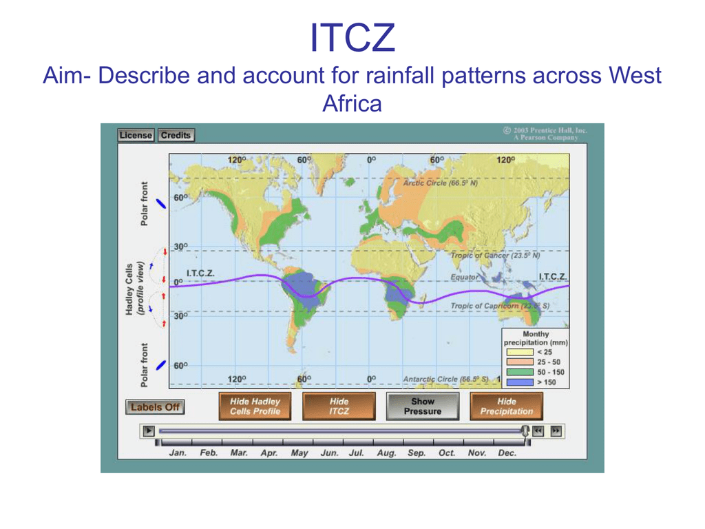 Itcz Aim Describe And Account For Rainfall Patterns