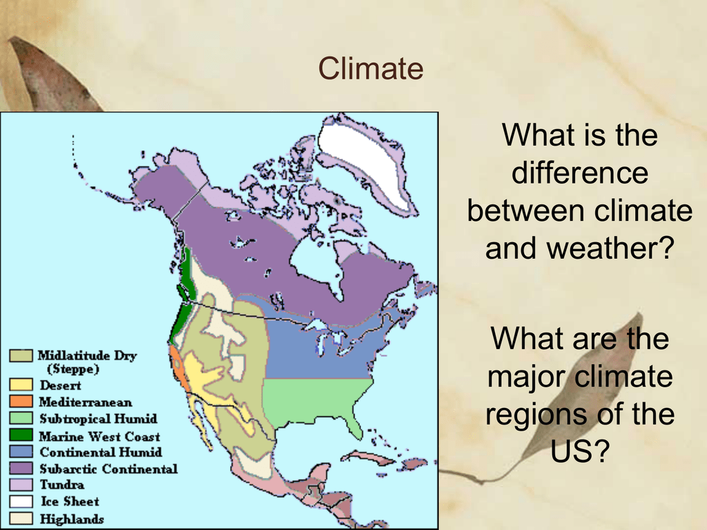 Map Of Canada Climate Regions