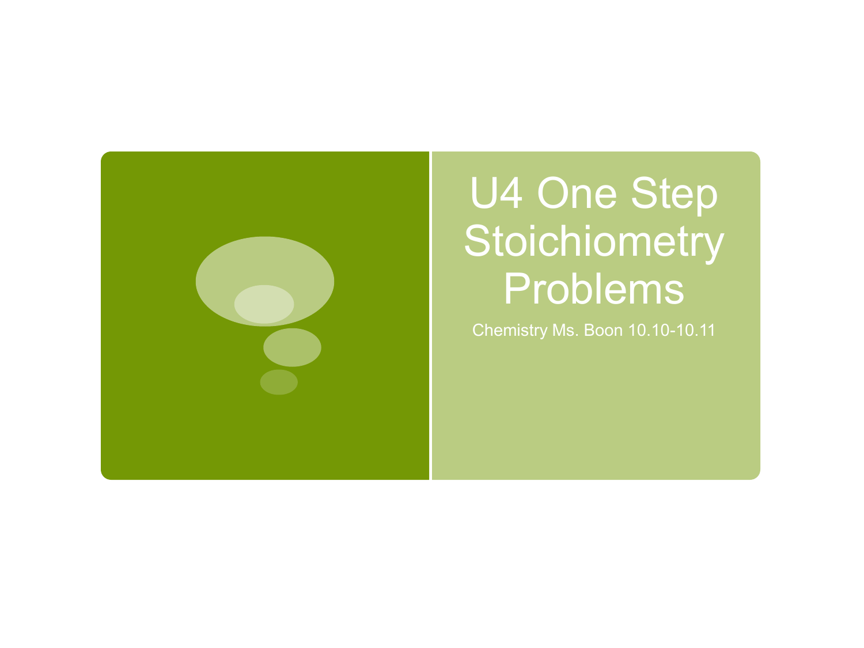U4 One Step Conversions