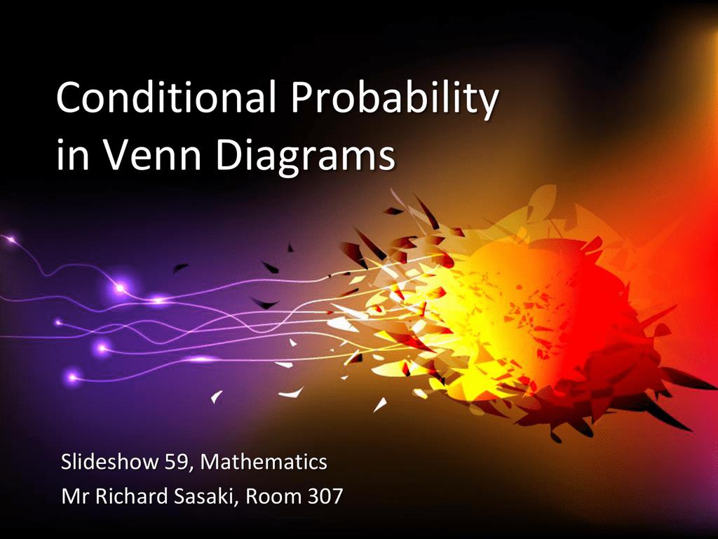 Conditional Probability In Venn Diagrams