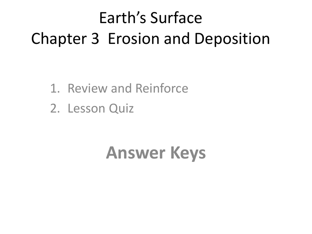 Earth S Surface Chapter 3