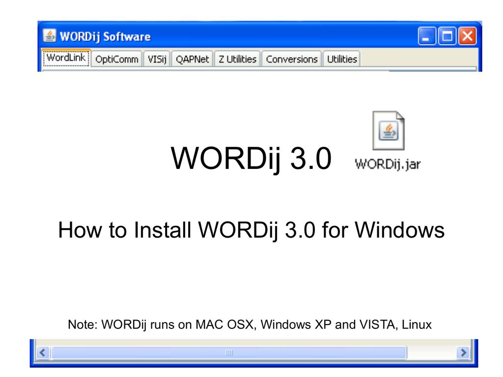 Wordij Installation For Windows