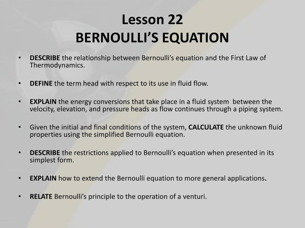 Bernoulli S Energy Equation Sample Problems