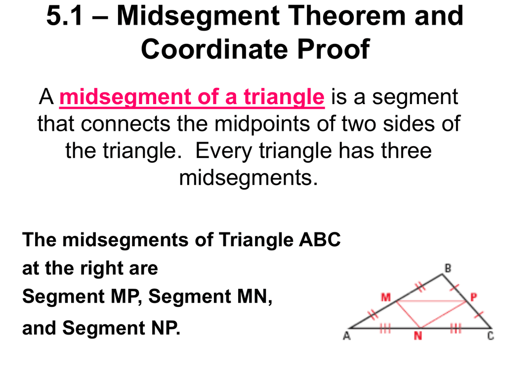 Midsegment Theorem Worksheet Answer Key