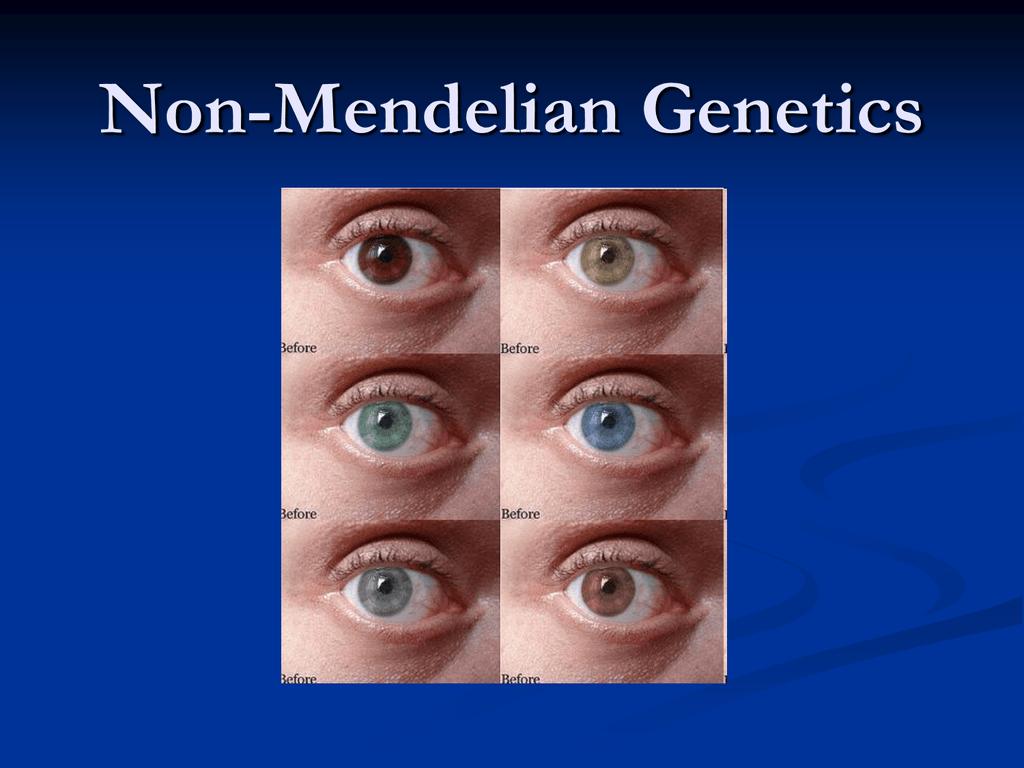 Non Mendelian Genetics