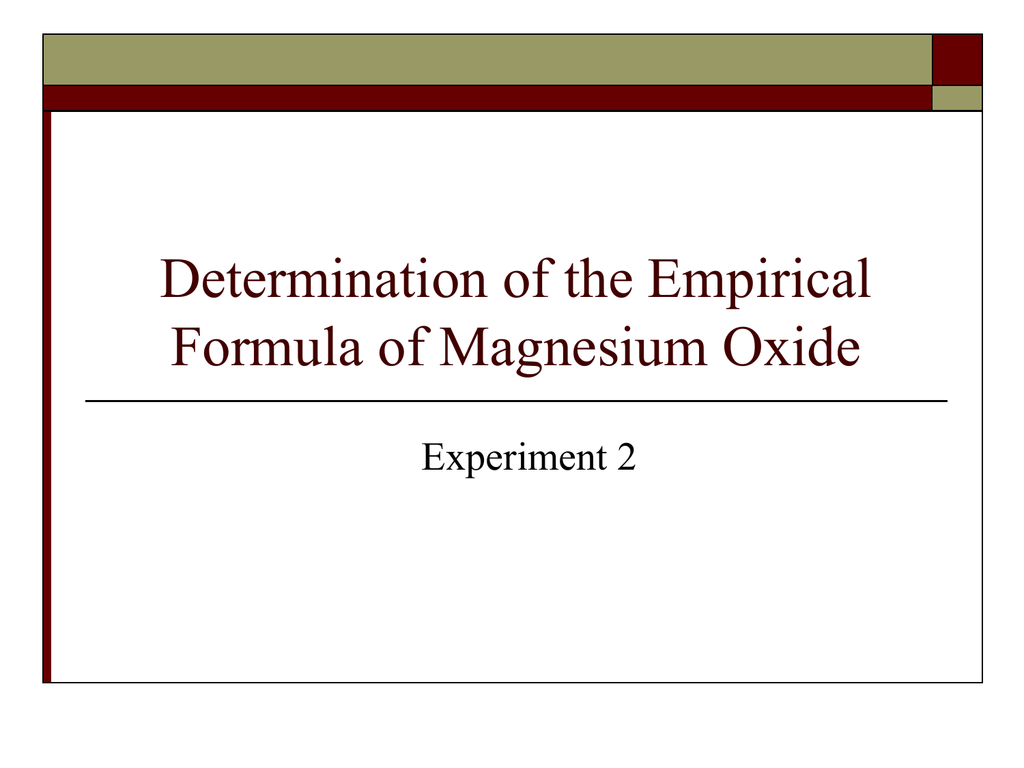 Myfoamiranmakes What Is The Empirical Formula Of