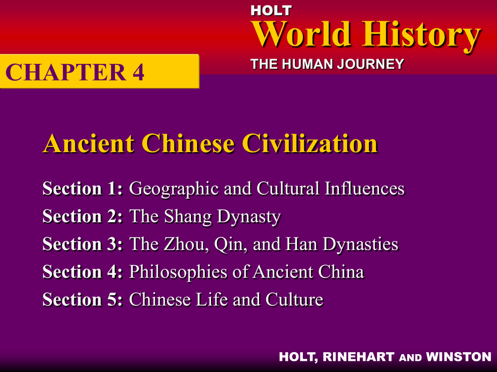 Chapter 4 Ancient Chinese Civilization