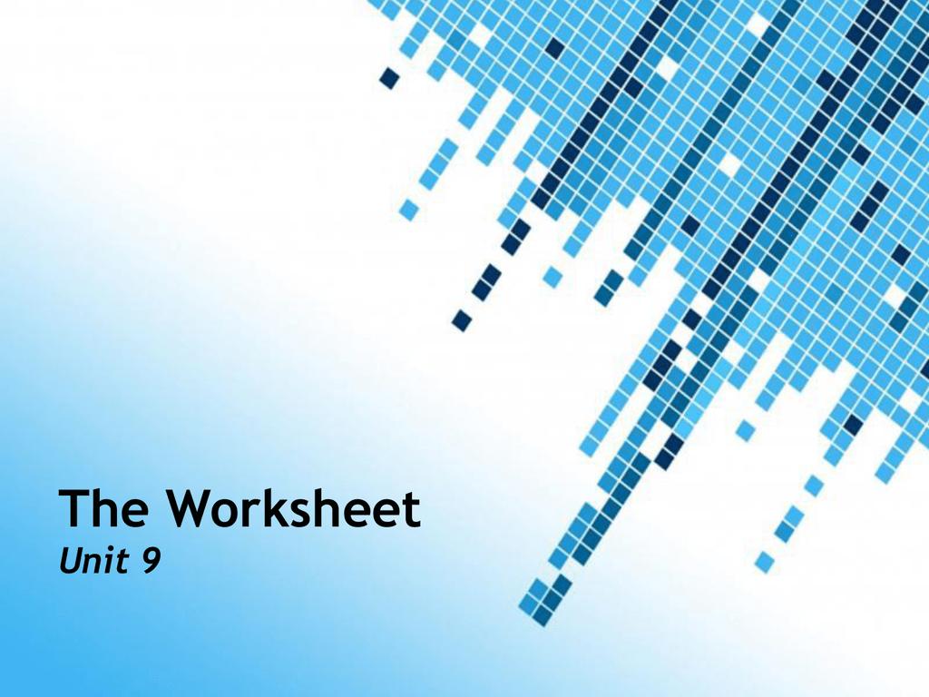 The Six Column Worksheet