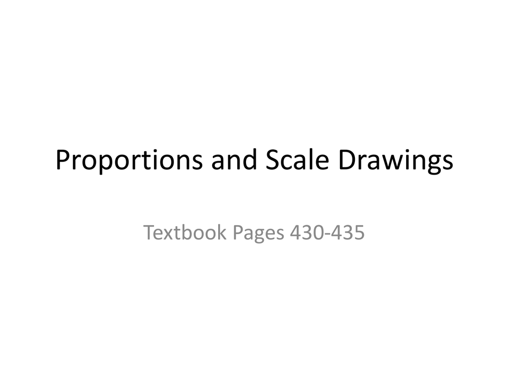 Scale Drawing Proportions