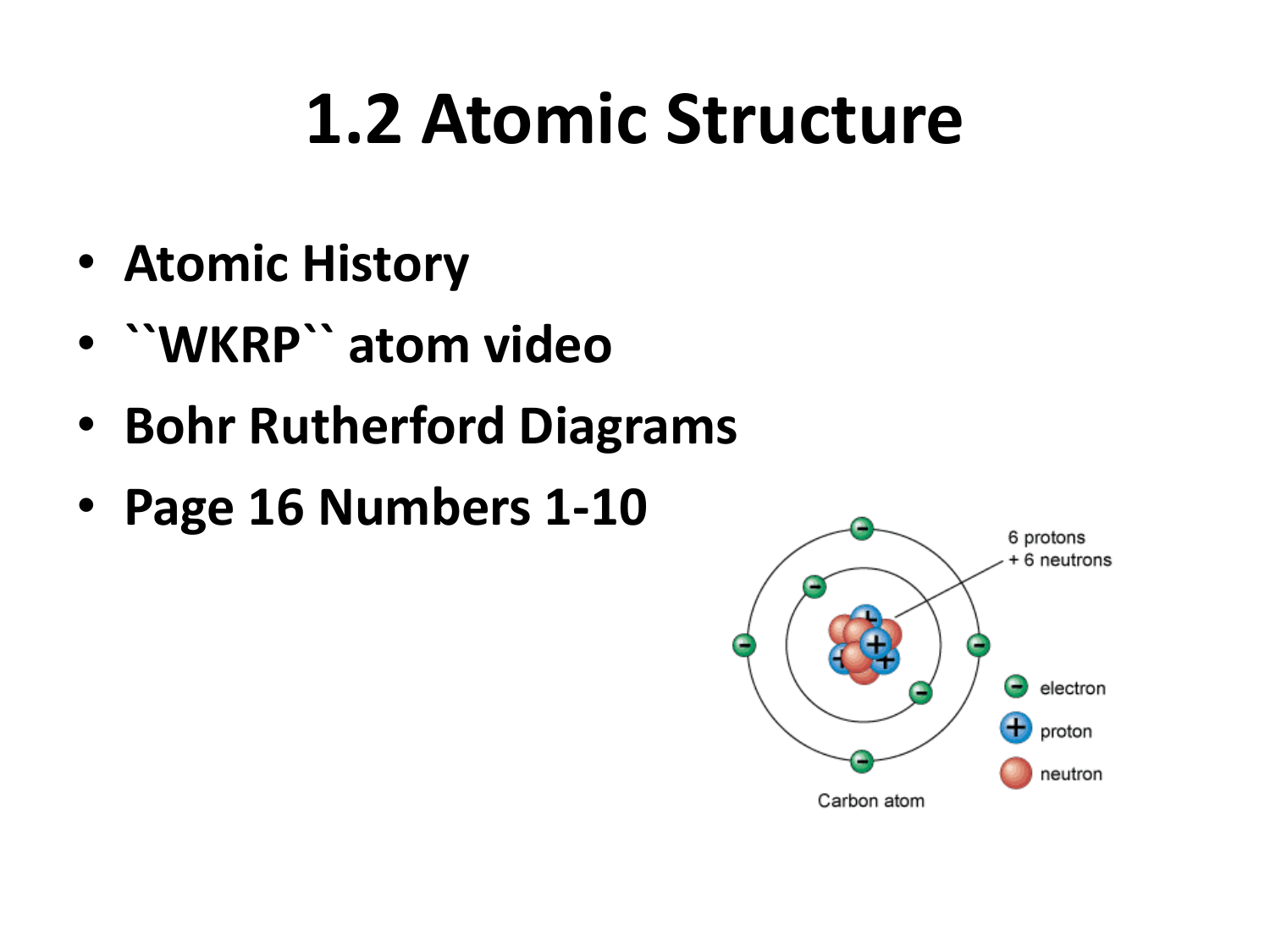1 2 Atomic Structure Atomic History Wkrp Atom Video