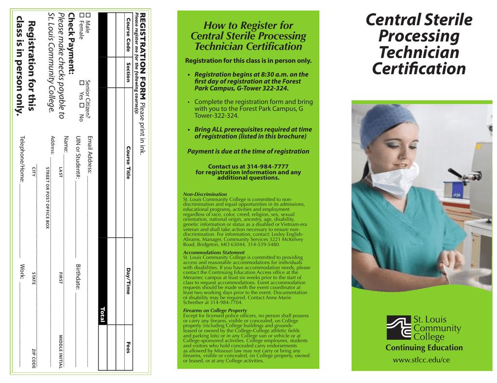 Central Sterile Processing Technician Certification
