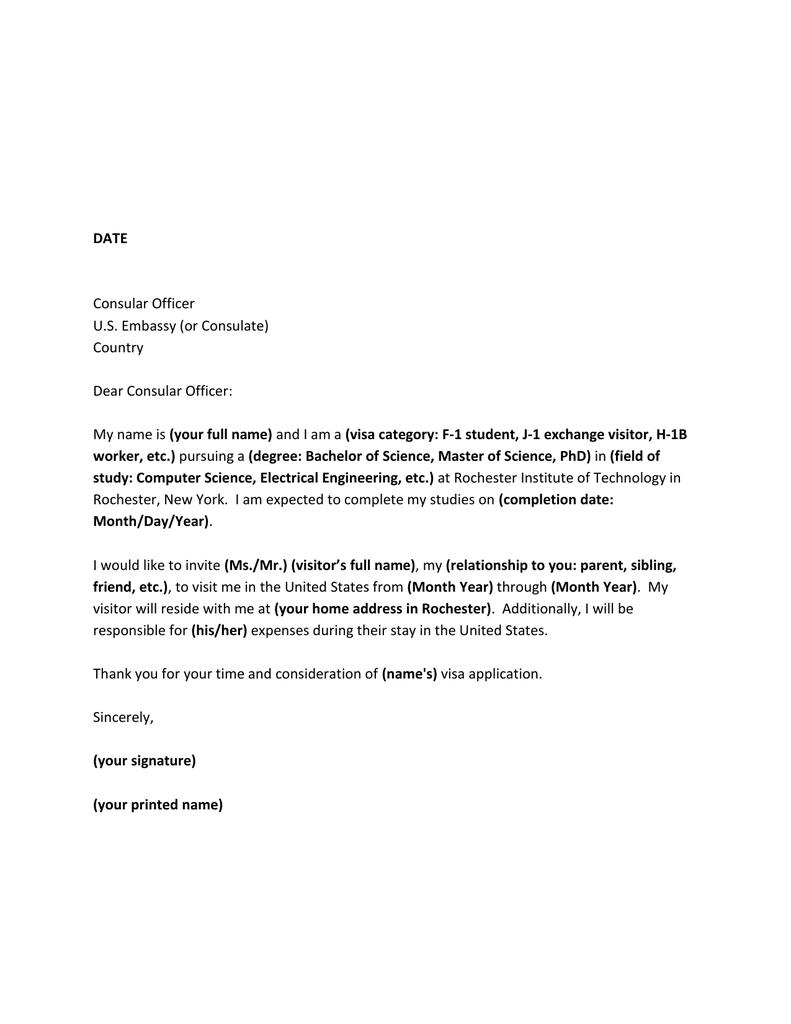 consular officer cover letter sample