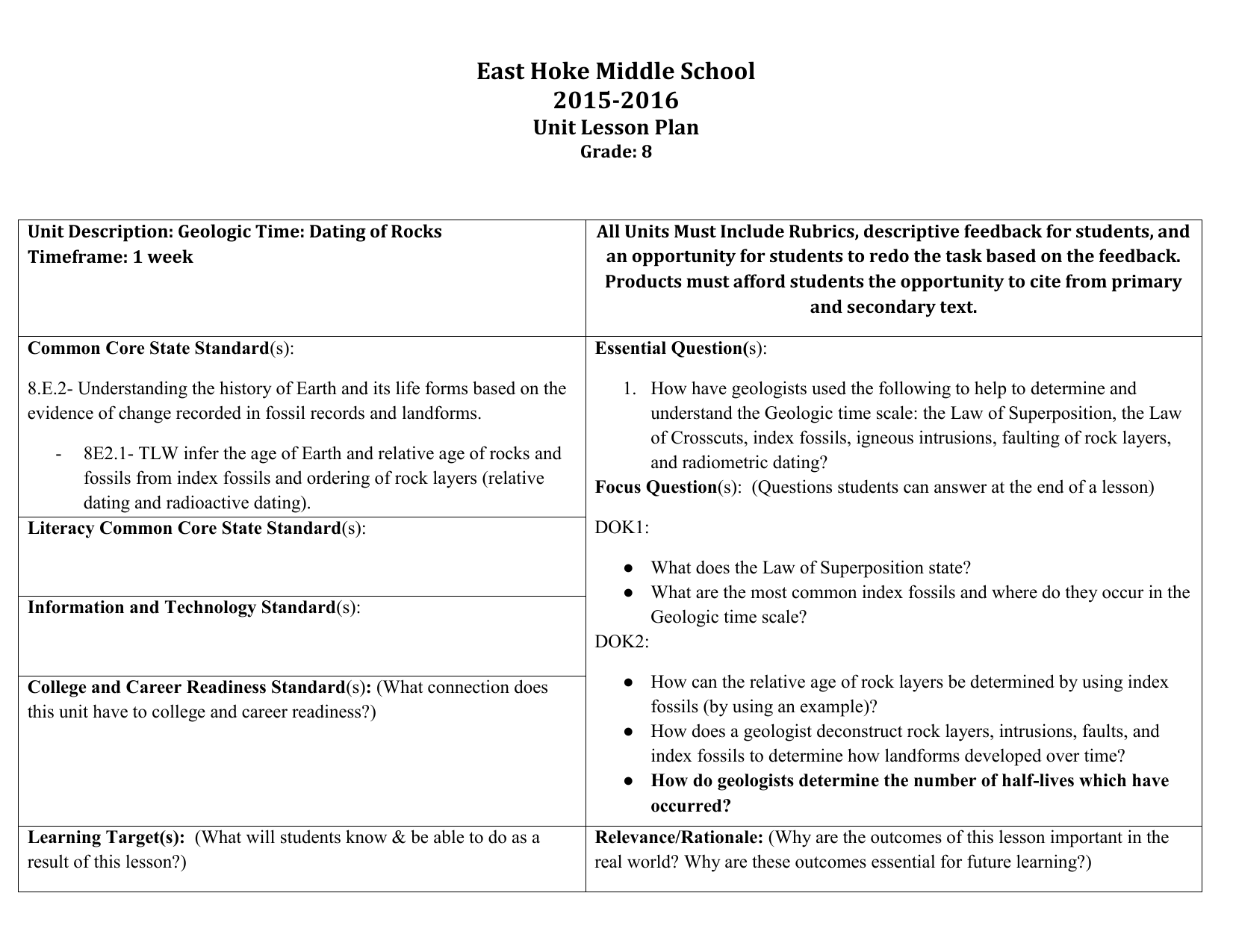 Radioactive Dating Worksheet Middle School Radioactive