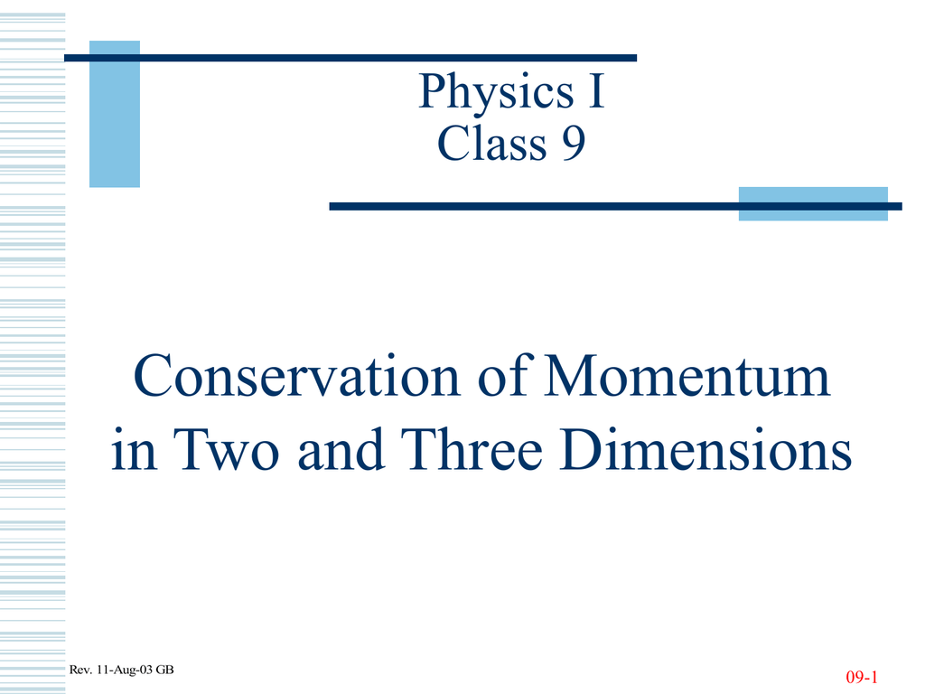 Conservation Of Momentum In Two And Three Dimensions