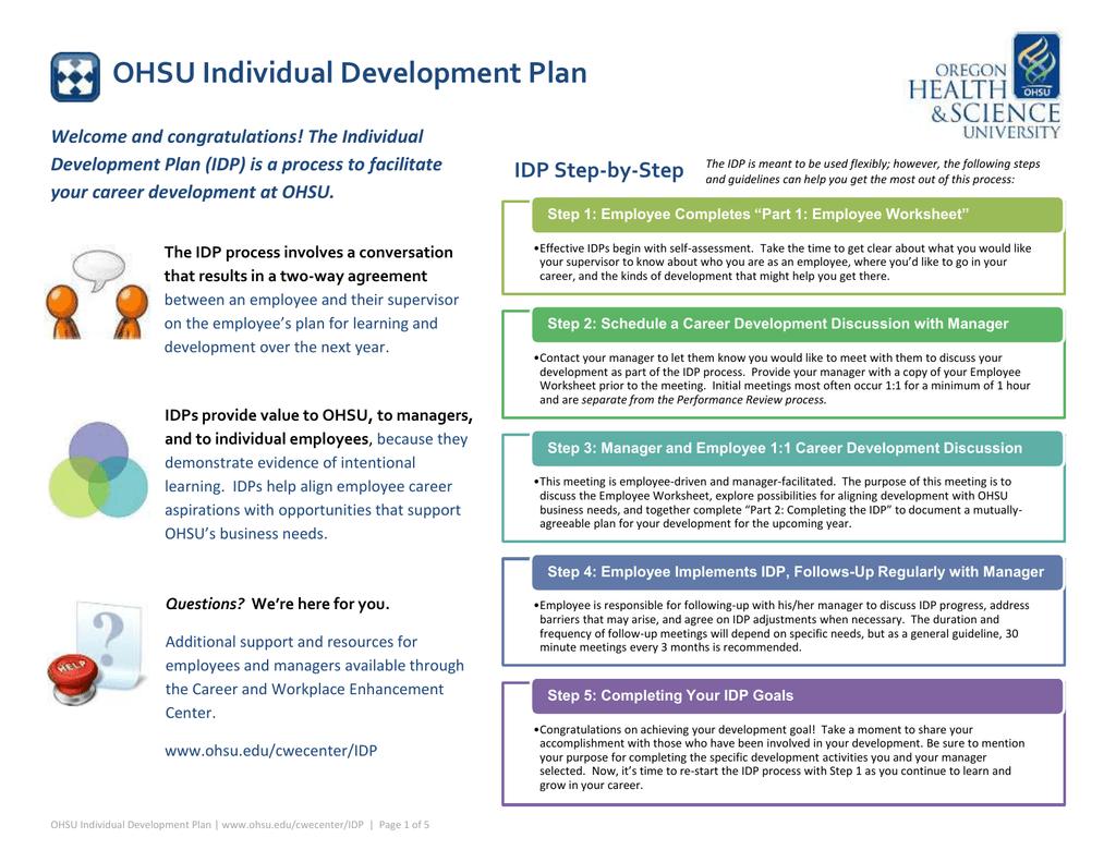 Ohsu Individual Development Plan Idp Step By Step Welcome