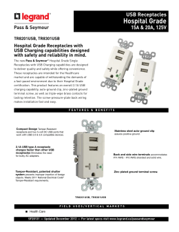 Plug Load RF Spec Sheet
