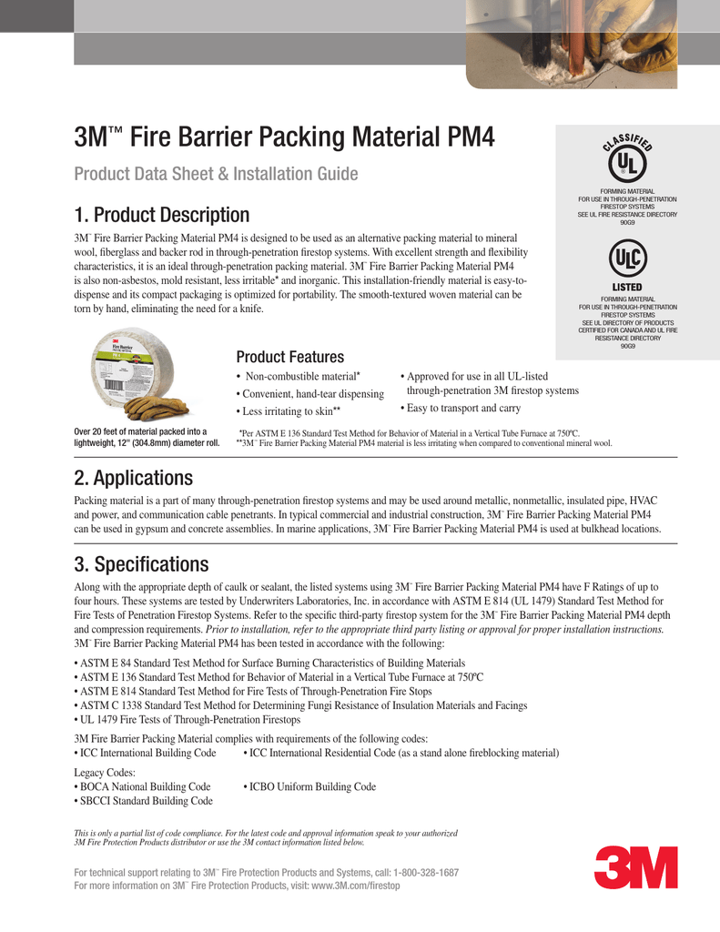 3m Fire Barrier Packing Material Pm4