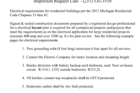 Free Resume 2018 » residential electrical code requirements | Free ...