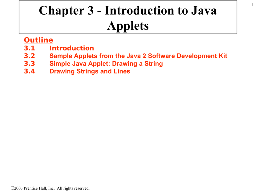 Drawing Lines In Java