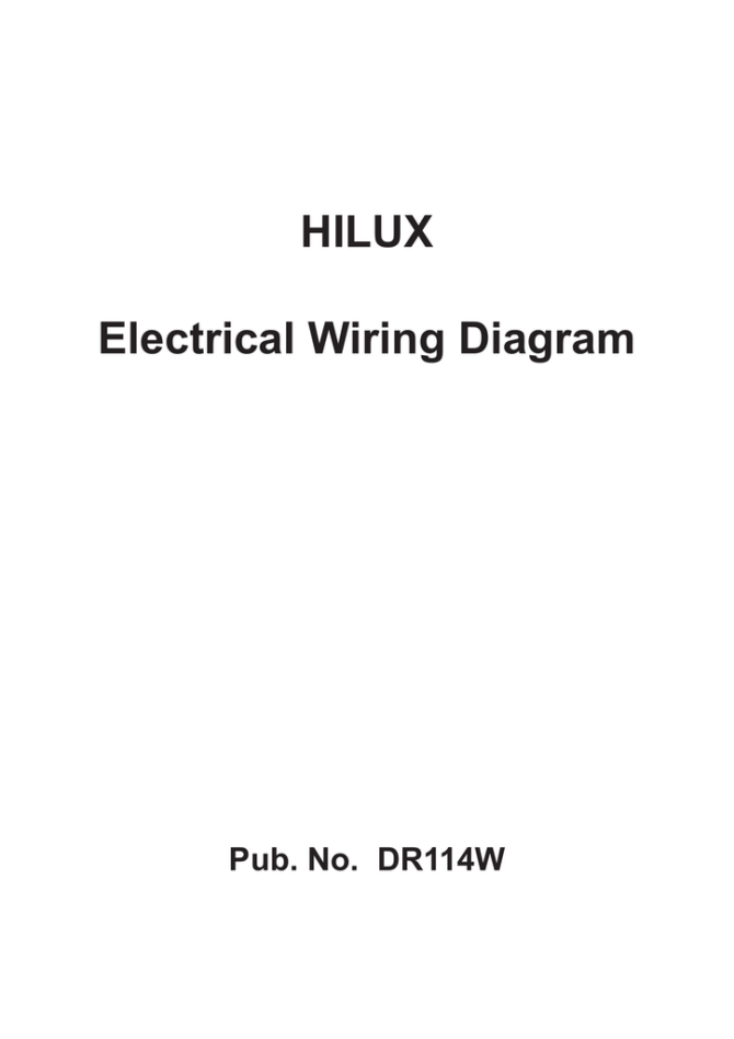 hilux electrical wiring diagram