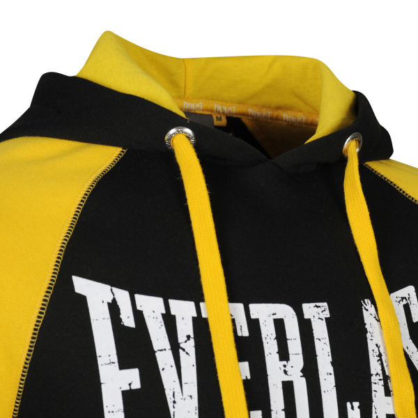 Everlast Mens Brushback Sweatshirt BlackYellow Mens
