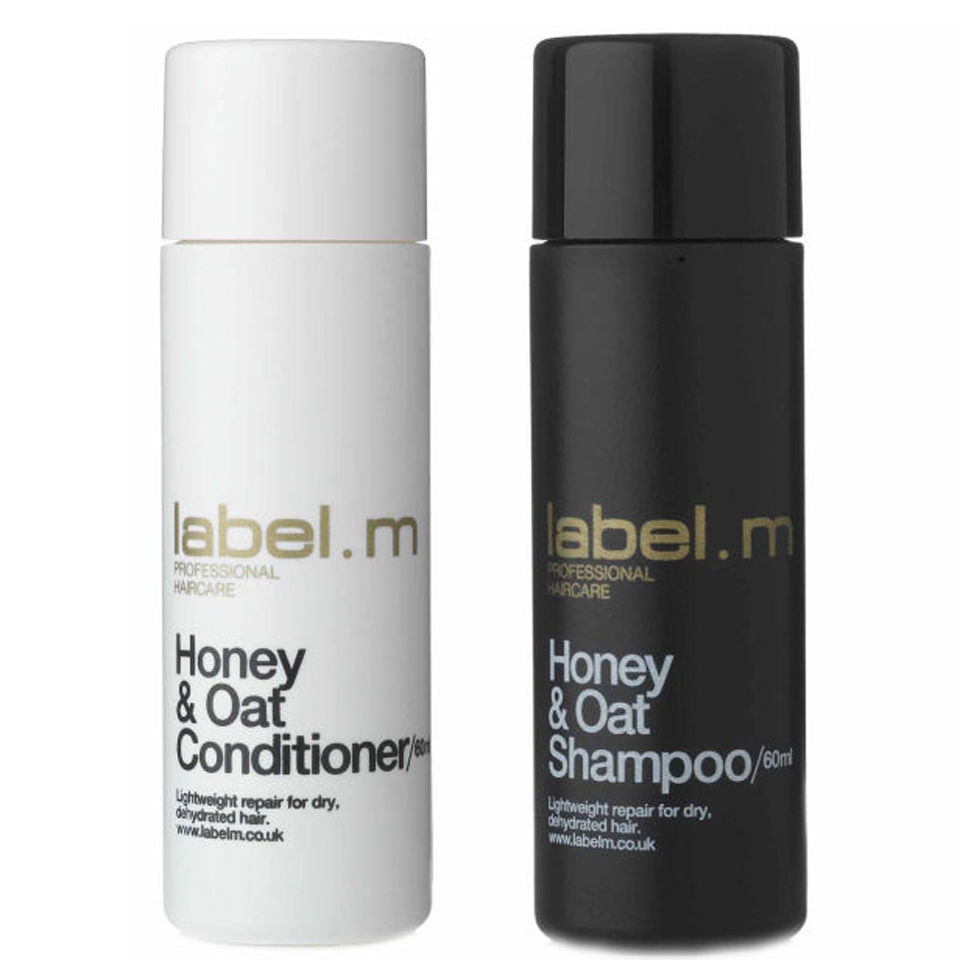 Labelm Honey Amp Oat Shampoo And Conditioner 60ml Travel
