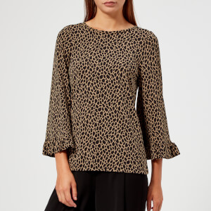 MICHAEL MICHAEL KORS Women's Leo Flutter Sleeve Top - Multi