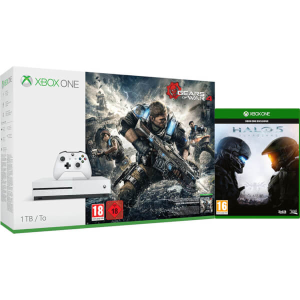 Xbox One S 1TB With Gears Of War 4 And Halo 5 Games