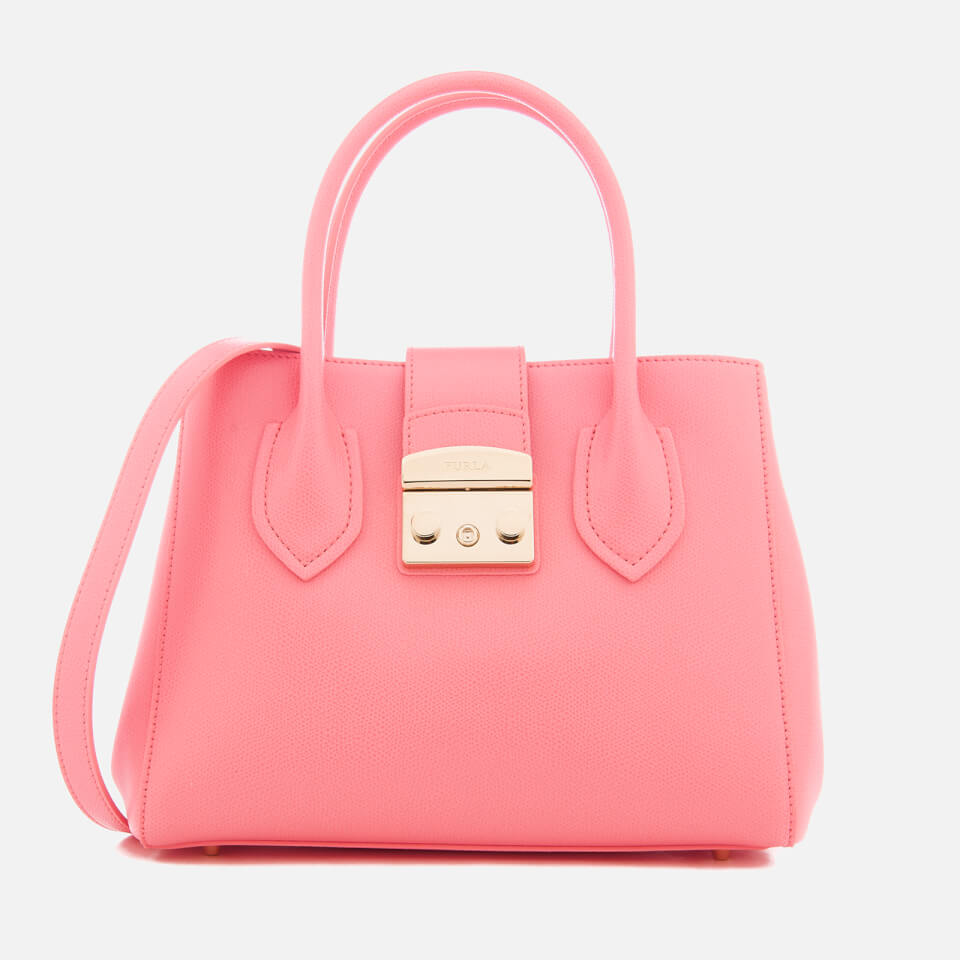Furla Womens Metropolis Small Tote Bag Pink