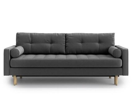 Canapea extensibila 3 locuri Esme Dark Grey
