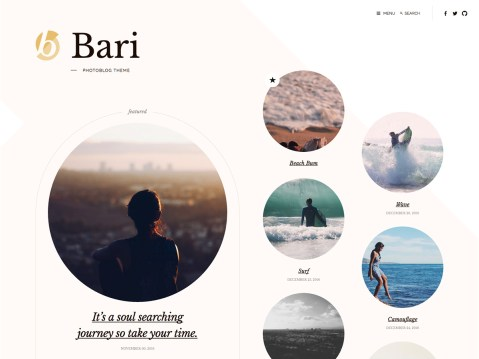 A simple photography theme