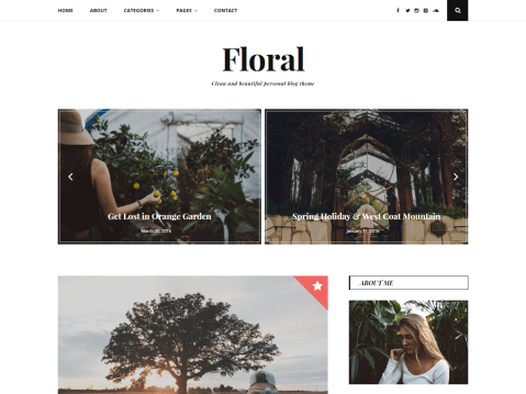 Clean and beautiful personal blog theme.