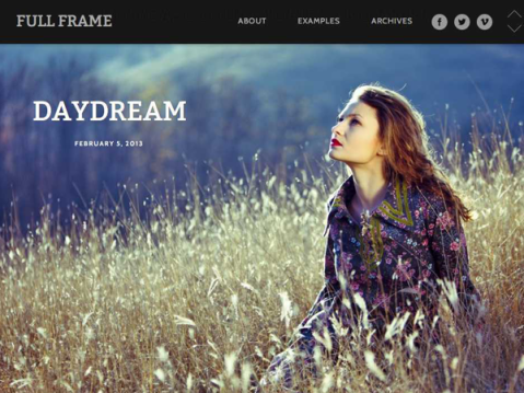 Full Frame is a post-format-loving WordPress theme perfect for showcasing big images, galleries and videos. Tell stories and present work in a unique way.