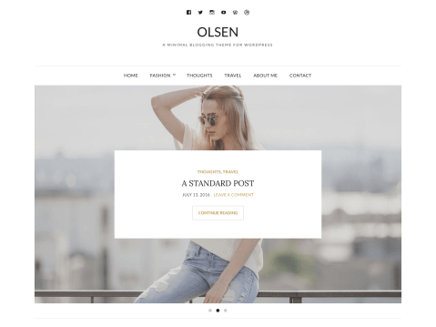 A blogging theme for WordPress