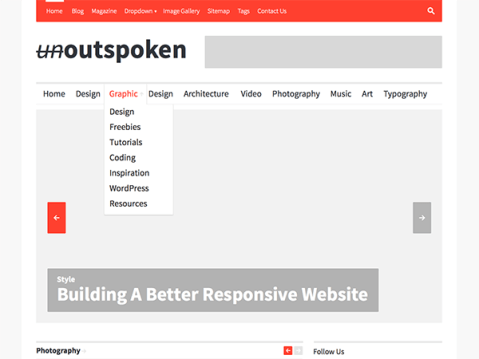 A highly customizable WordPress theme developed for news websites, magazines & blogs. Outspoken is a responsive, clean, simple & easy to customize. Theme specifically designed for your new website, blog or online magazine.