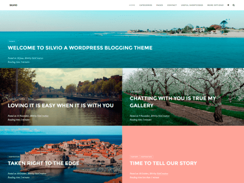 Silvio theme is a modern and clean layout for sharing travel photos and stories in WordPress.com