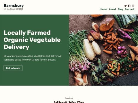 Barnsbury is an earthy and friendly theme design with farming and agriculture businesses in mind.